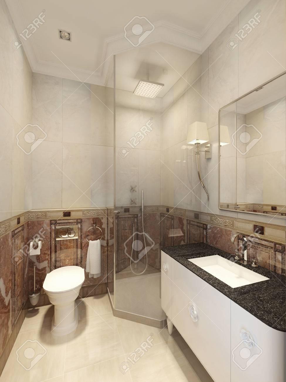 Cuarto De Baño De Estilo Art Deco. 3d Fotos, Retratos, Imágenes Y ...
