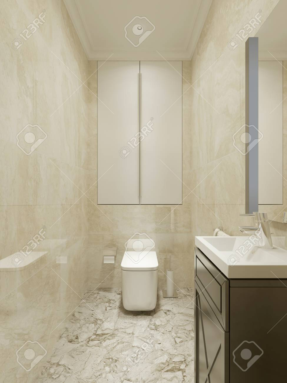 Cuarto De Baño De Diseño Clásico. 3d Fotos, Retratos, Imágenes Y ...