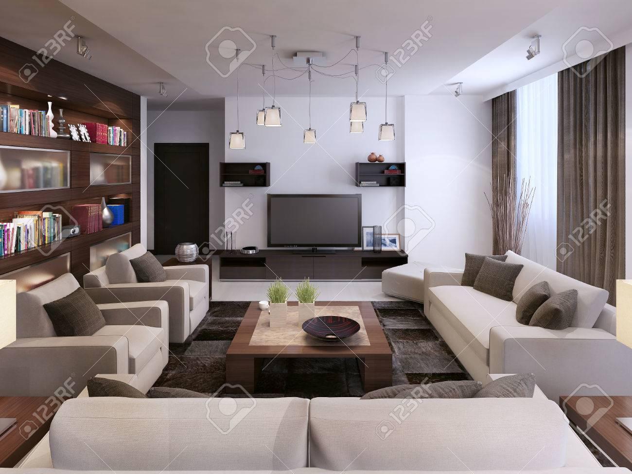 wohnzimmer modernen stil 3d bilder lizenzfreie fotos bilder und wohnzimmer dekoo - Wohnzimmer Im Modernen Stil