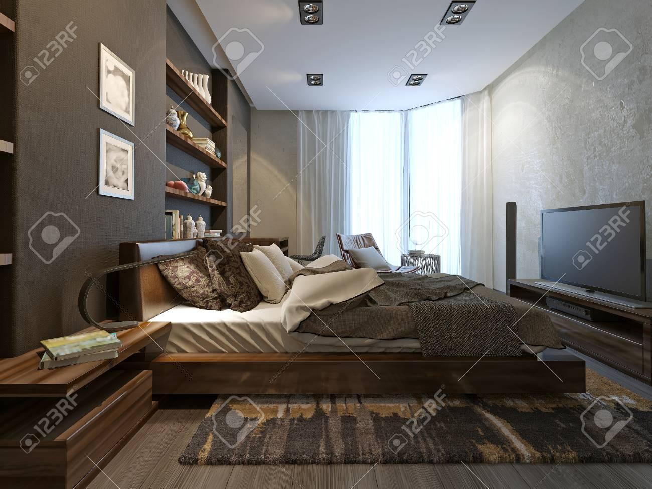 Intérieur Chambre dans un style moderne, modèle 3d