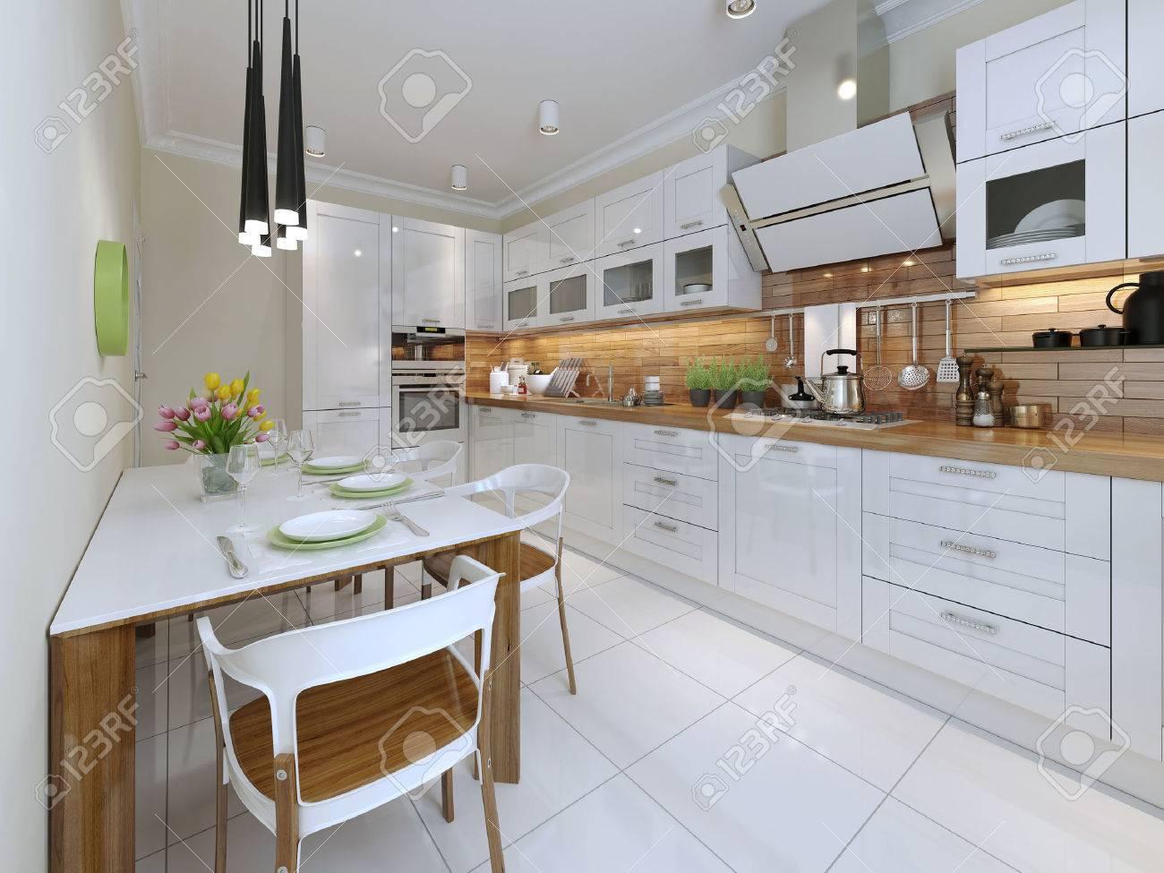 Contemporáneo Diseño Cocina. 3d