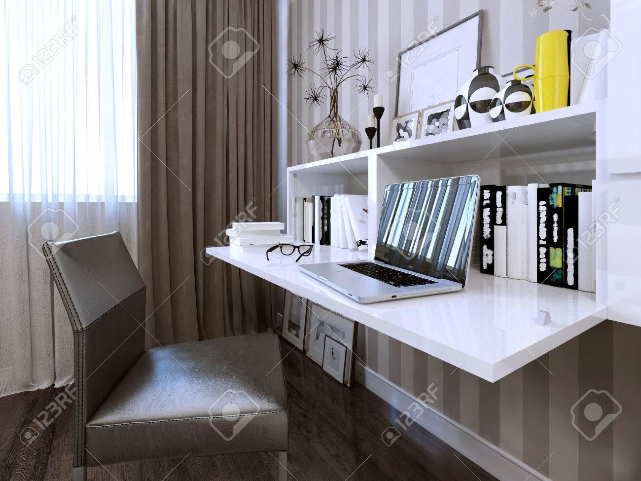 Schreibtisch Zeitgenössischen Stil. 3d Render Lizenzfreie Fotos ...