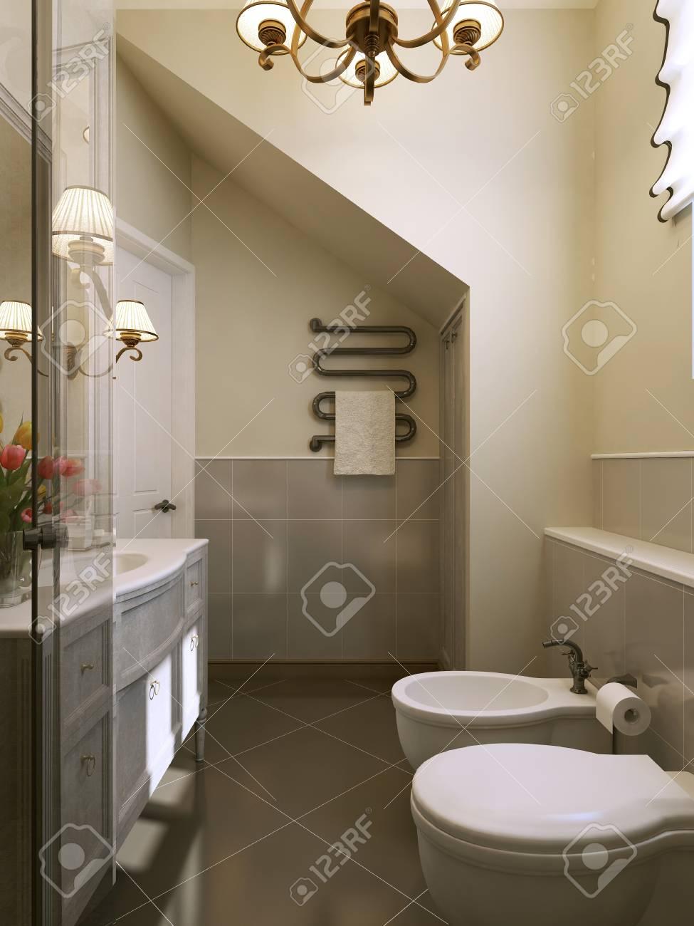 Salle De Bain Provencale salle de bain style provençal. 3d render