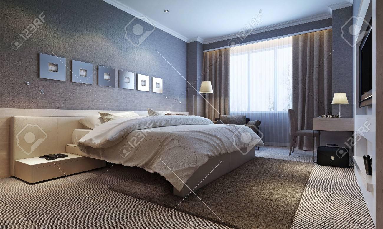 Intérieur de la chambre, style moderne. Images 3D