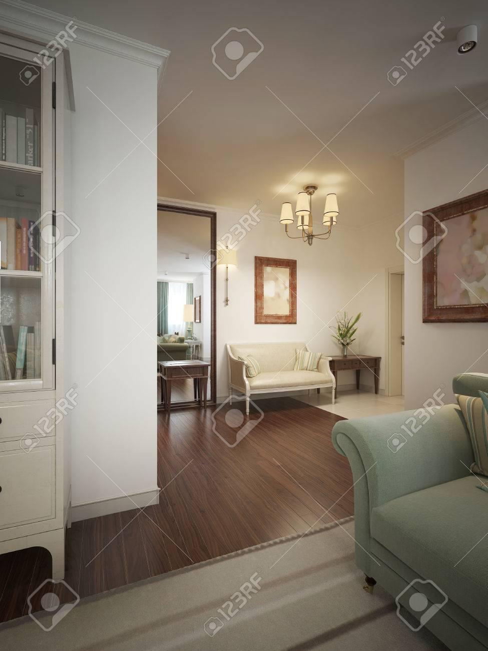 hall d'entrée avec hall d'entrée dans le style provençal. les