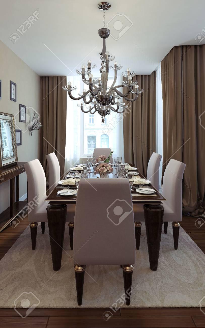 banque dimages salle manger maison de style art dco des images 3d