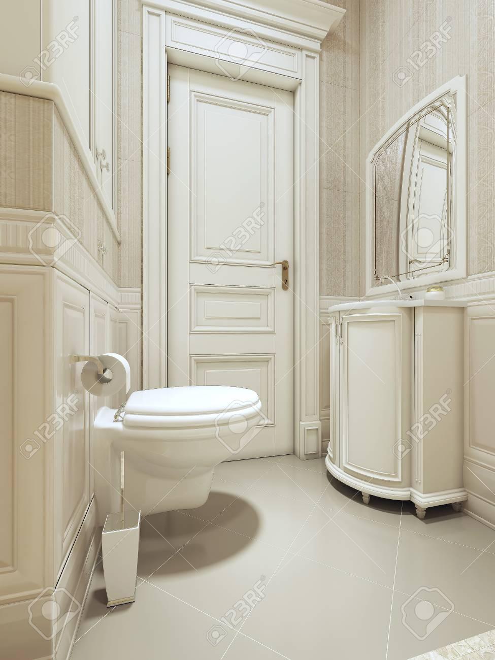 Salle de bains de style art déco. images 3d