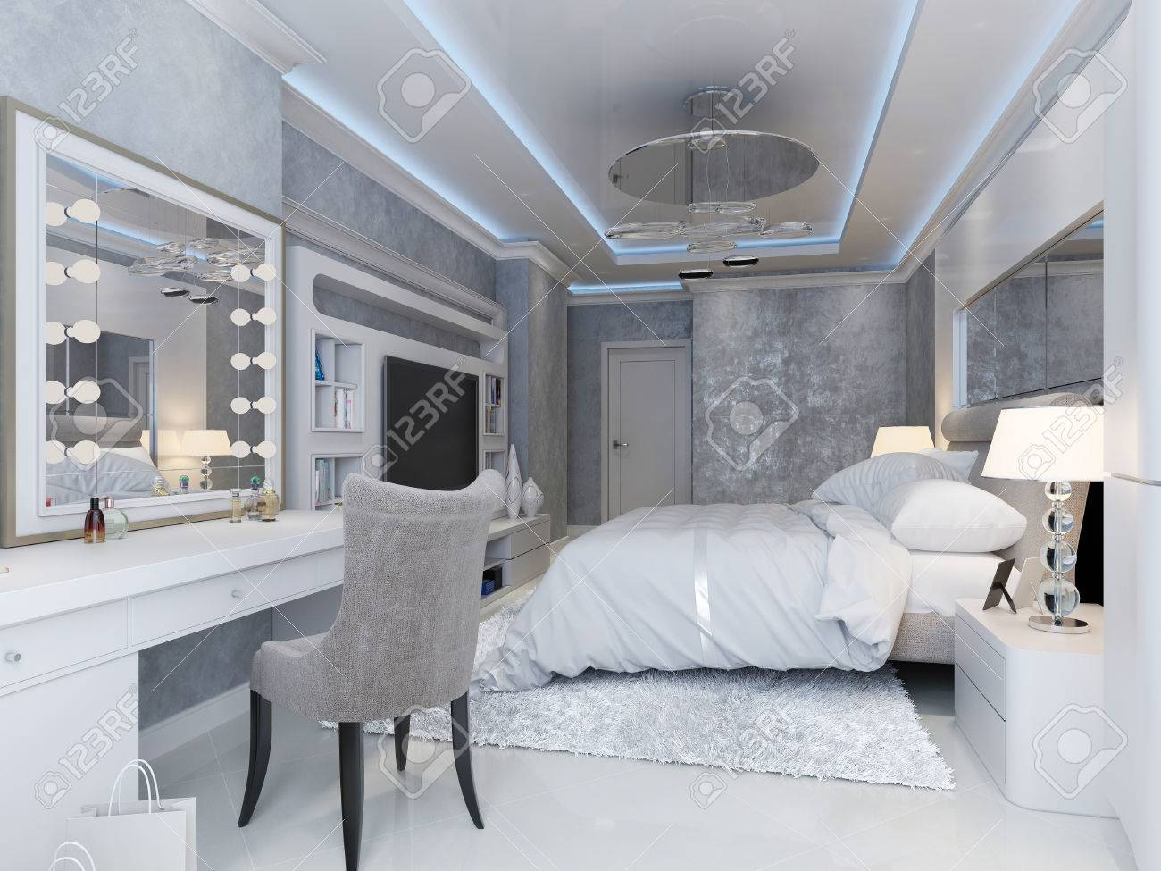 Modern art deco style bedroom, 18d picture