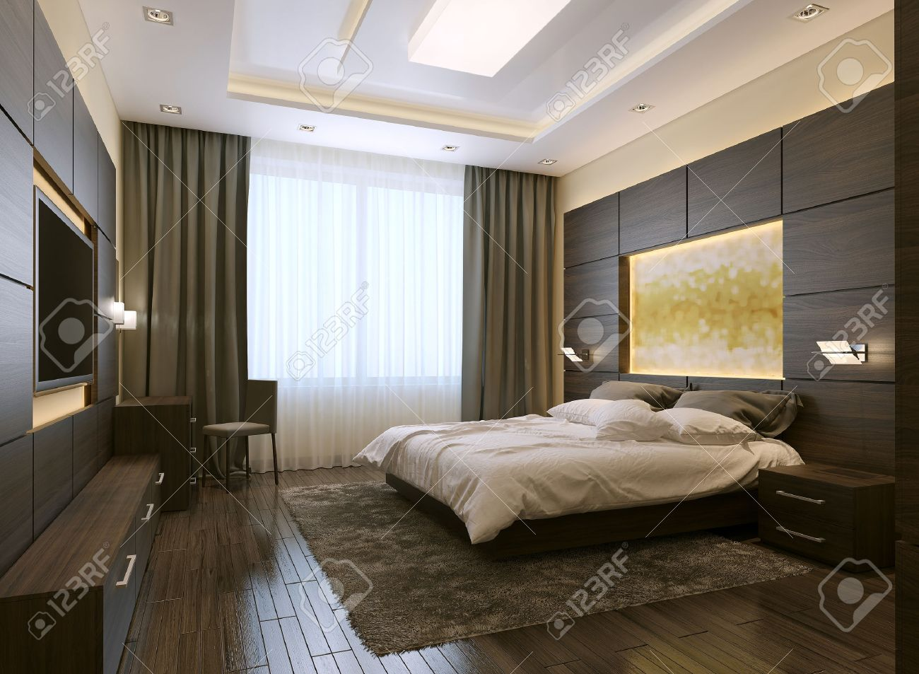 Bedroom modern style, 3d images - 47512711
