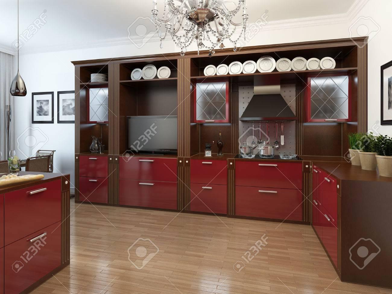 Cocina en el estilo Art Deco, imágenes 17d