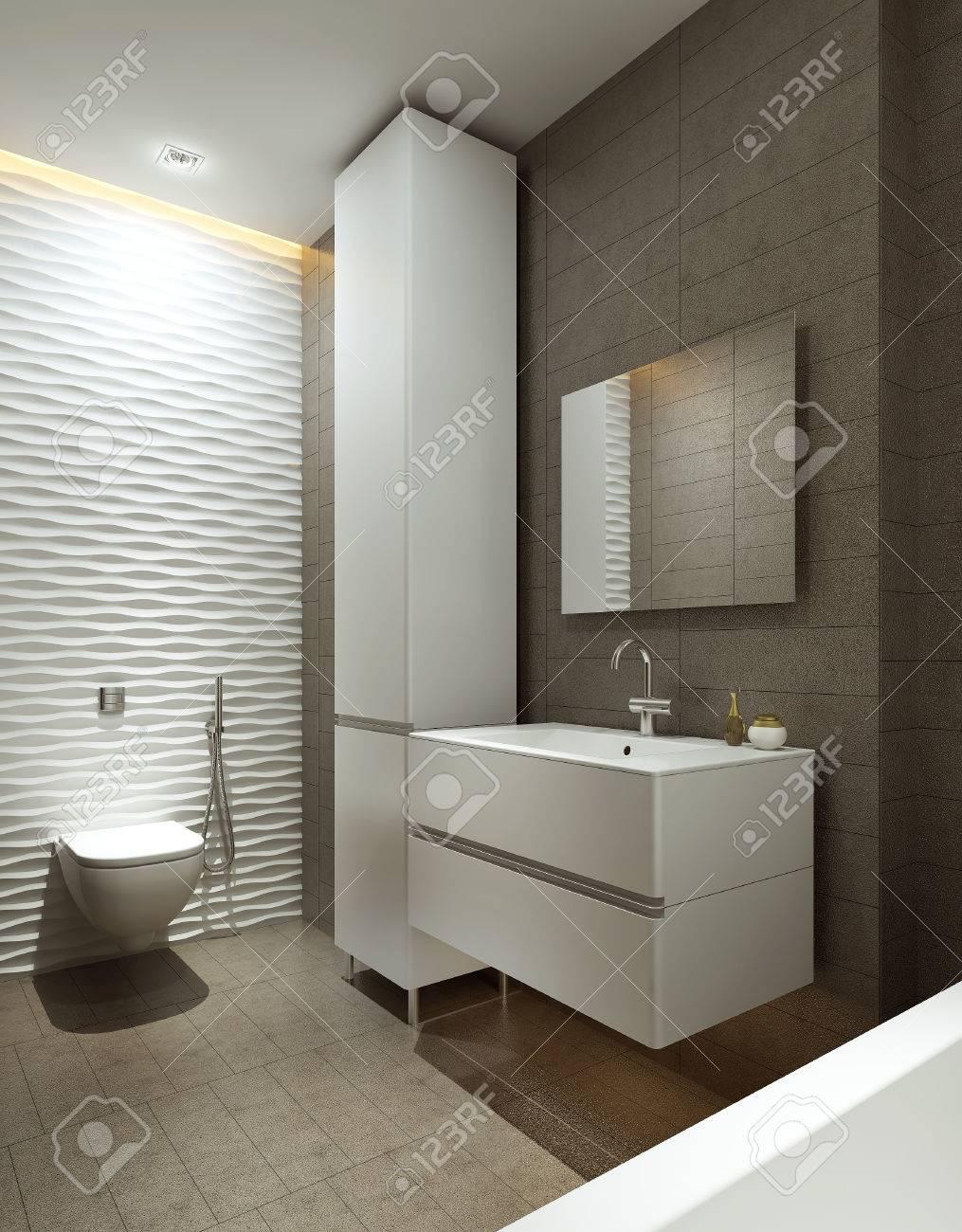 Estilo moderno cuarto de baño, las imágenes en 3D