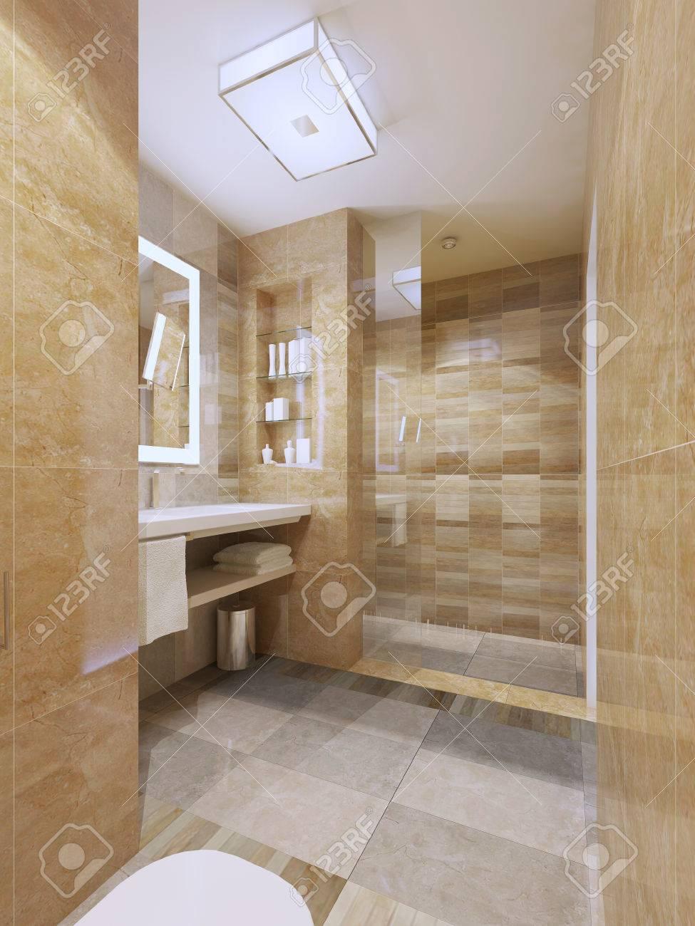 Diseño Contemporáneo Del Cuarto De Baño. Concepto De Decoración ...