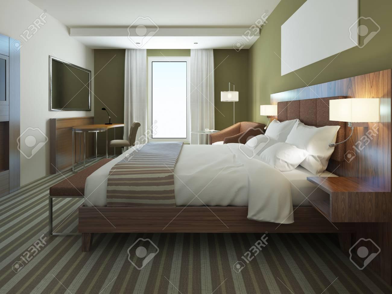 Hermoso Departamento Amueblado, Dormitorio Cómodo. De Color Marrón ...