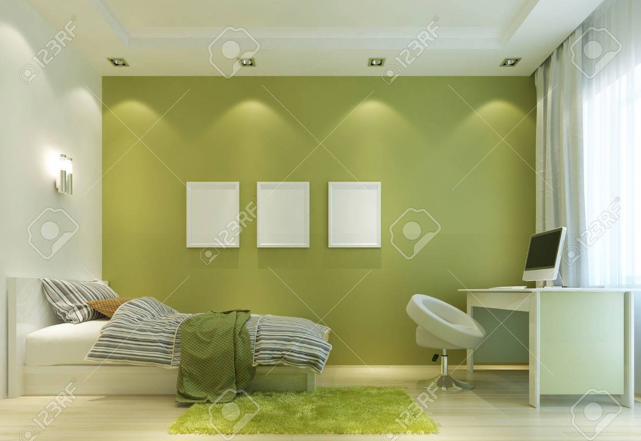 Design A Child\'s Room In A Contemporary Style, With A Bed And ...