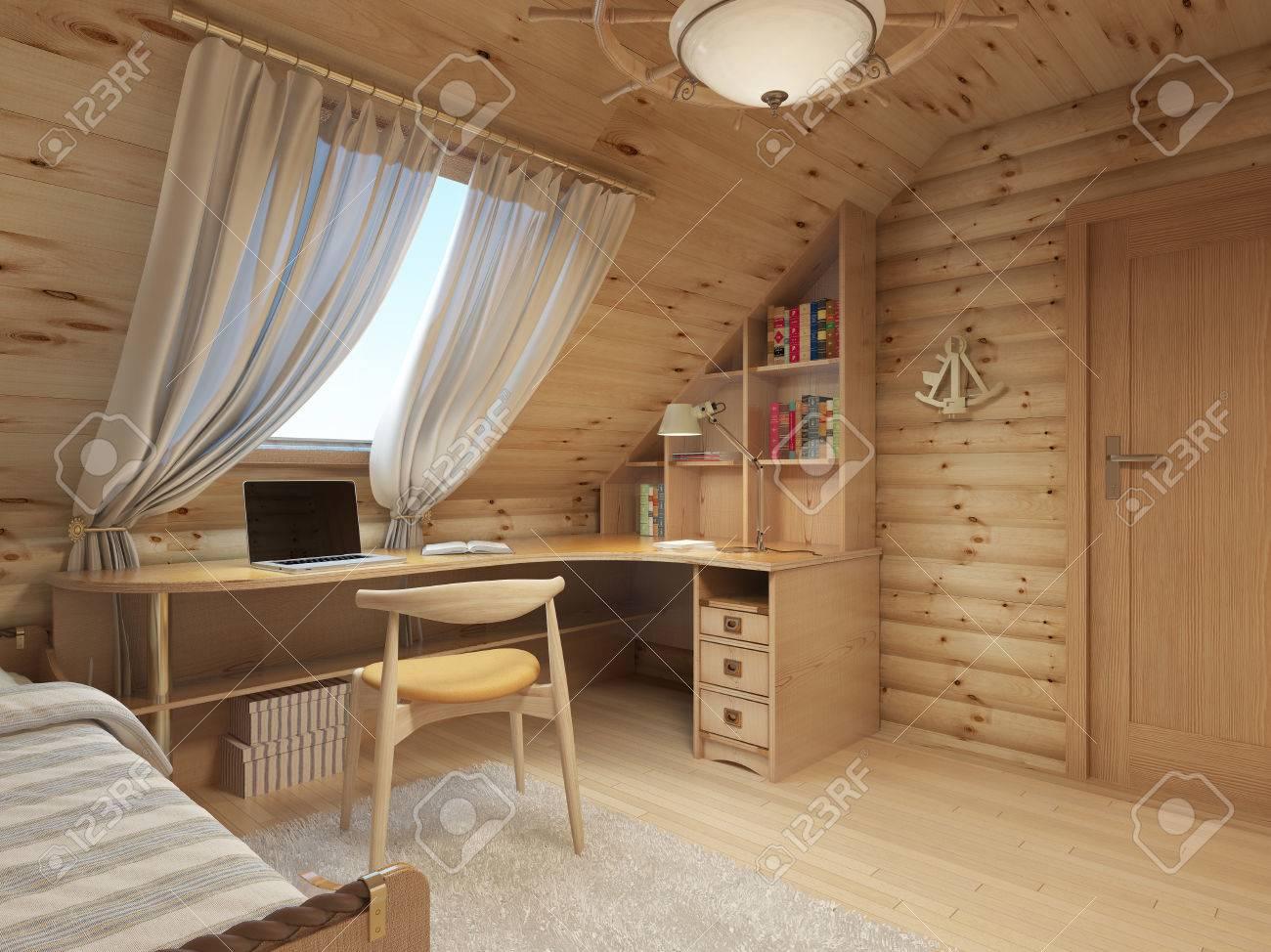 Connectez vous entre la place pour un adolescent de bois dans un