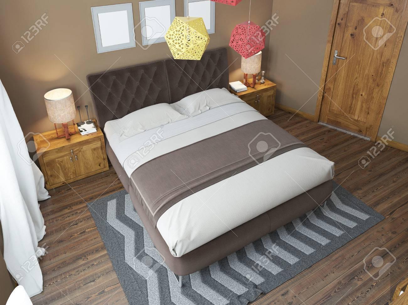 luminosa camera da letto di lusso nel soppalco. la camera da letto ... - Camera Da Letto Su Soppalco