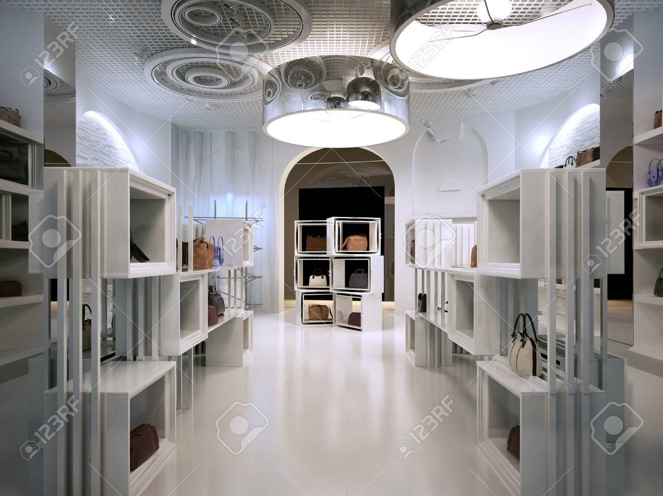 luxury store interior design art deco style with hints of  - luxury store interior design art deco style with hints of contemporaryinterior white store with