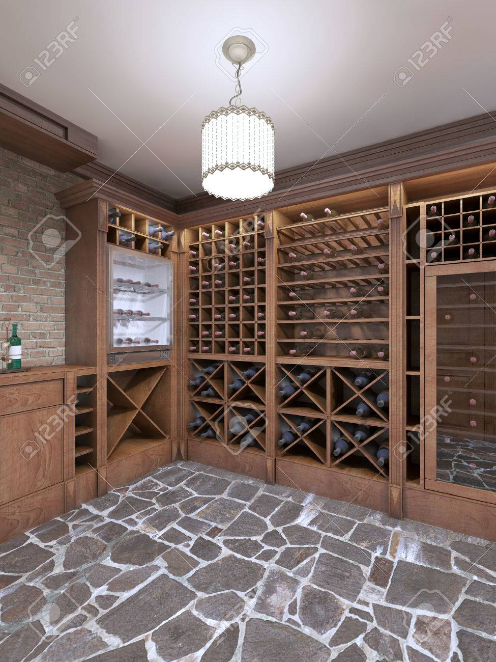 Wine Cellar In The Basement Of The House In A Rustic Style Open Stock Photo Picture And Royalty Free Image Image 66095285