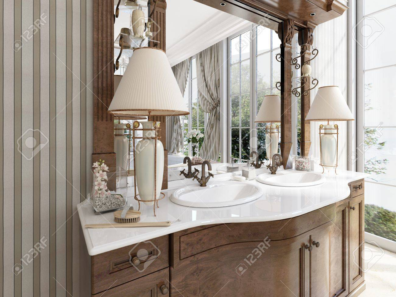 Luxury Neoclassical Furniture In Modern Style In The Bathroom