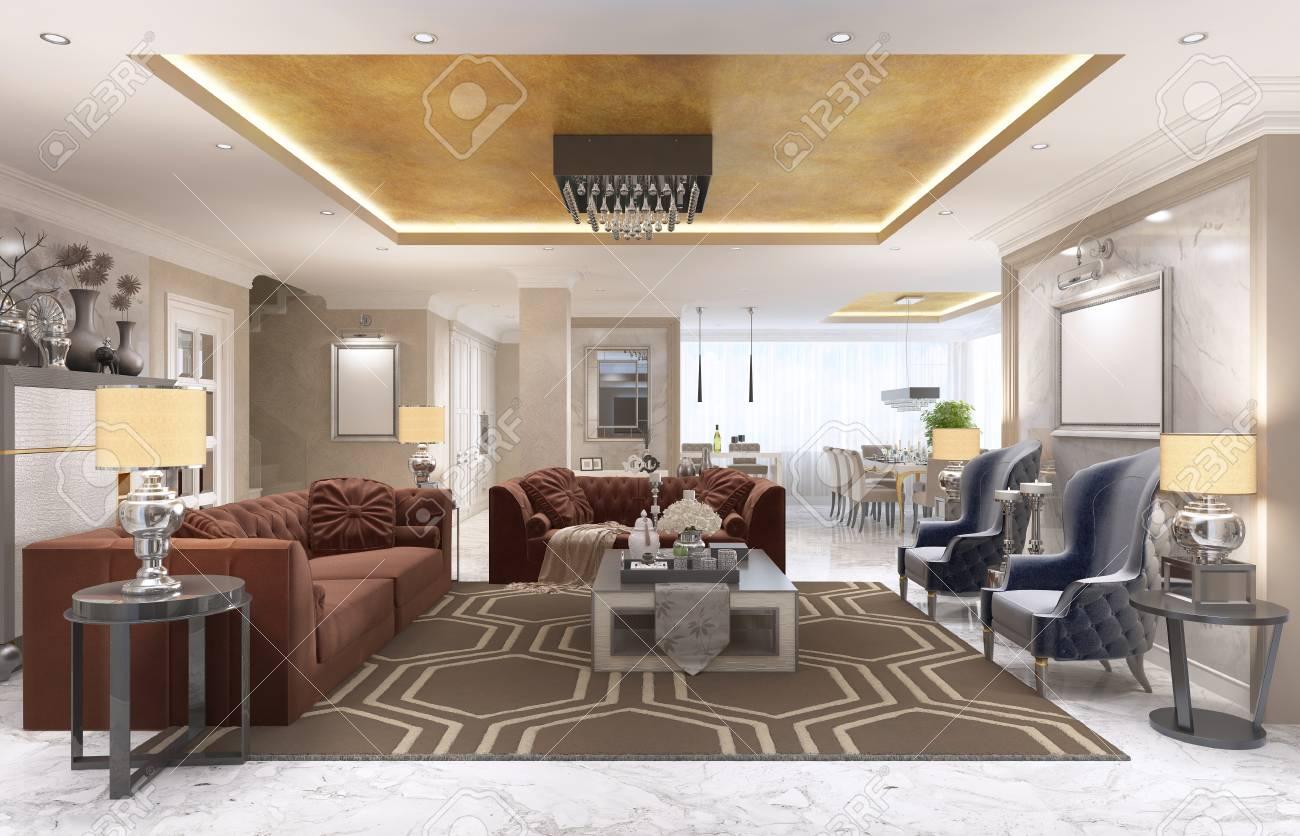 Luxury Designer Apartment-studio In Art Deco Style. Living Area ...