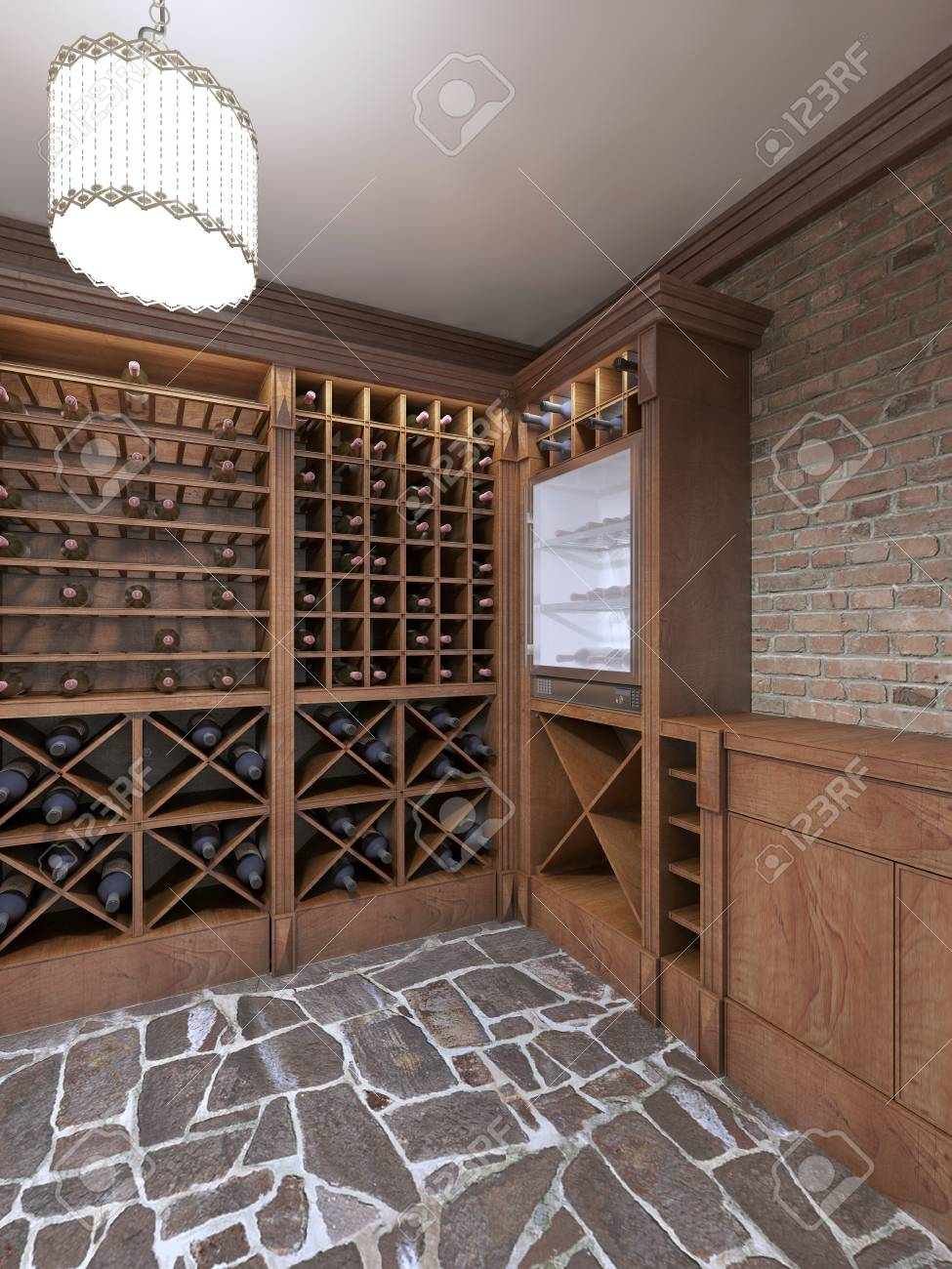 Wine Cellar In The Basement Of The House In A Rustic Style Open Stock Photo Picture And Royalty Free Image Image 65942365