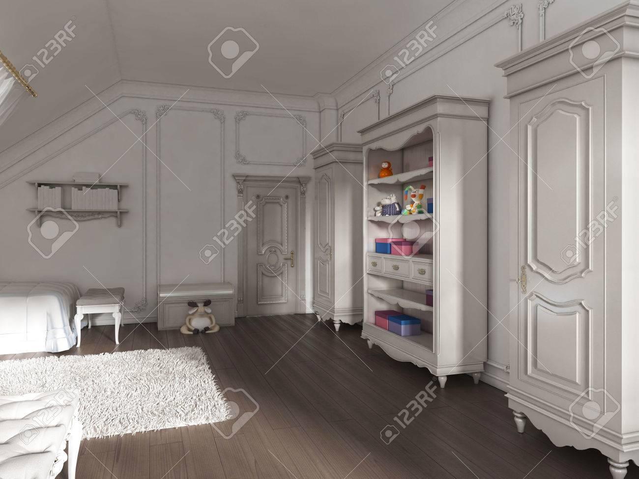 Muebles Para Libros Ninos.Muebles Para Ninos En El Estilo De Provence En La Habitacion De Los