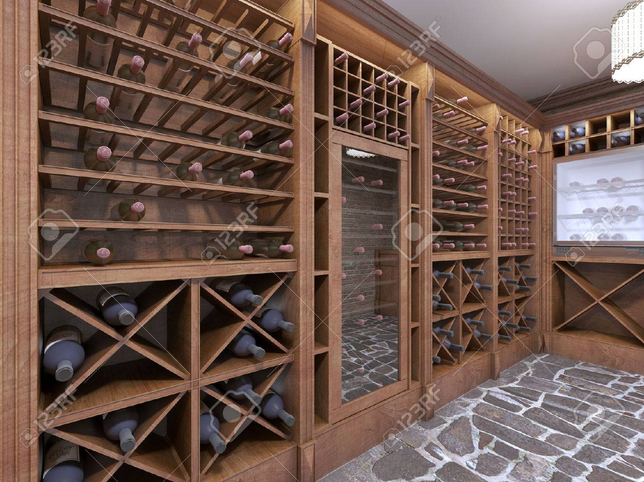 Wine Cellar In The Basement Of The House In A Rustic Style Open Stock Photo Picture And Royalty Free Image Image 66537260