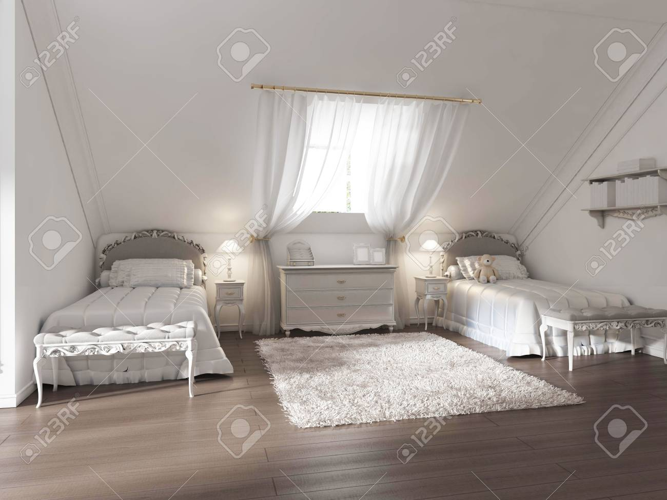 Luxus Kinderzimmer Fur Zwei Kinder Im Art Deco Stil Das Design Ist