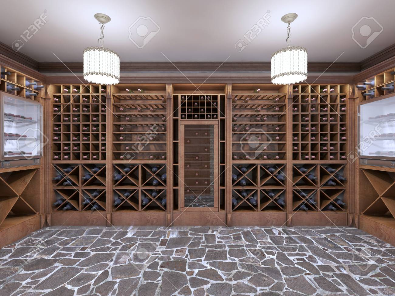 Wine Cellar In The Basement Of The House In A Rustic Style Open Stock Photo Picture And Royalty Free Image Image 66491981