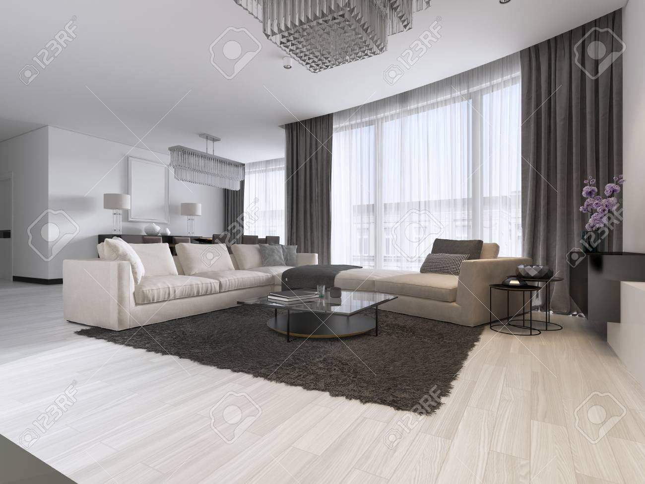Excellent Modern Light Contemporary Living Room With Large Corner Sofa Download Free Architecture Designs Oxytwazosbritishbridgeorg