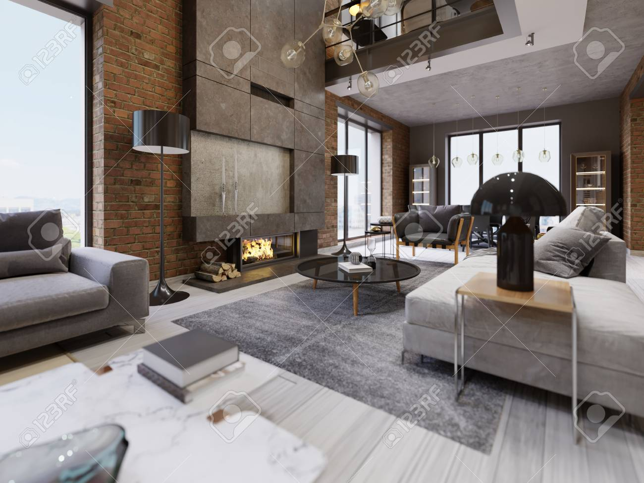Awesome High Ceiling Living Room Modern