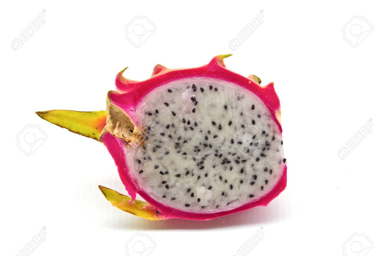 Pitahaya, dragon fruit isolated on white background Stock Photo - 14263101