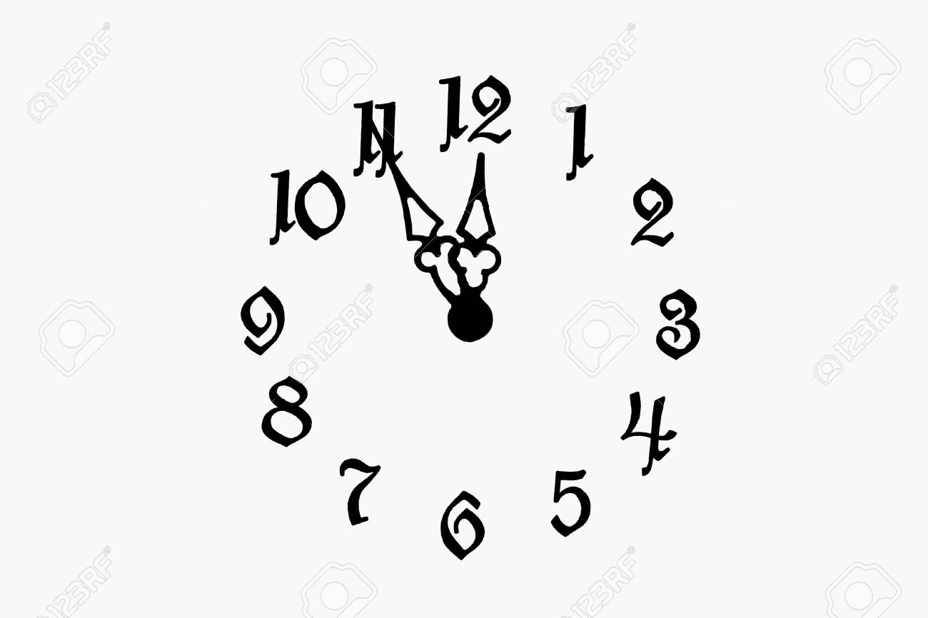 Clock face (isolated on white) Stock Photo - 4594913