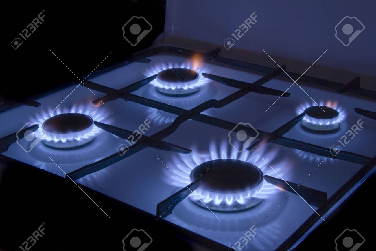 Flames of gas stove Stock Photo - 4368974