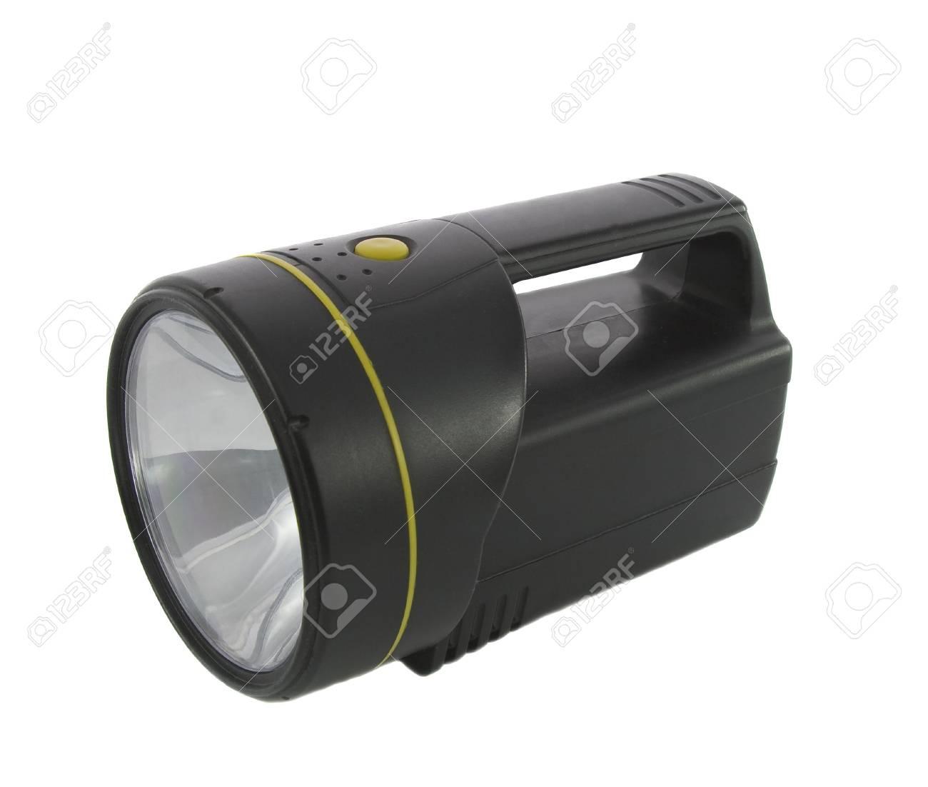 Black flashlight isolated on the white background Stock Photo - 4422016