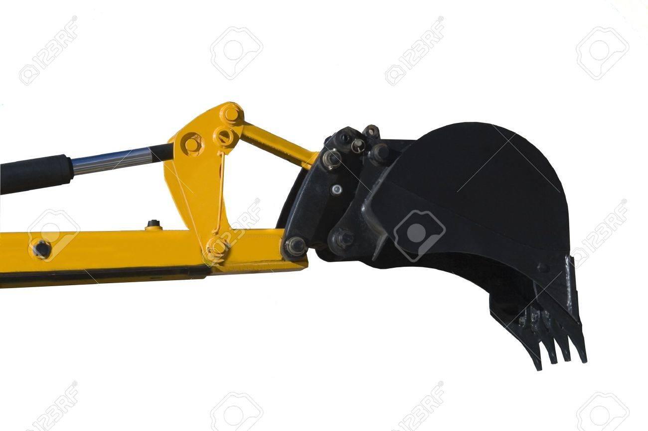 Digger excavator isolated on white background Stock Photo - 5697640