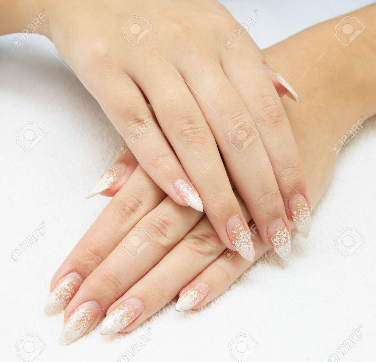 care for sensuality woman nails Stock Photo - 13019523