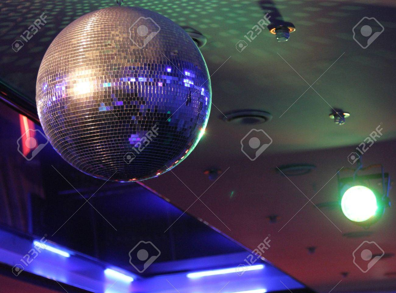 Disco Ball Light Reflection Background Stock Photo   20433861