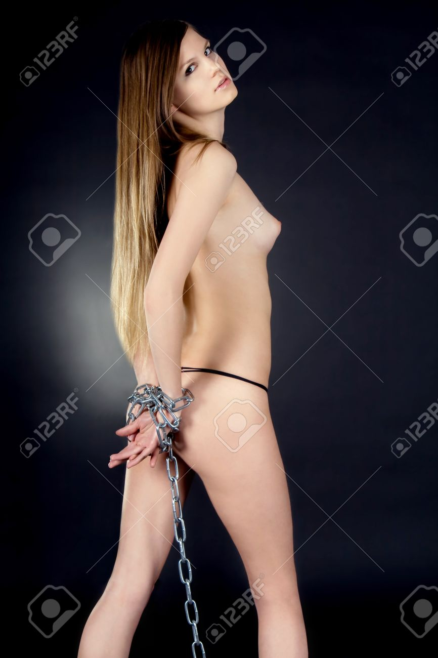 Beauty Woman Bondage In The Darkness Stock Photo 20705552