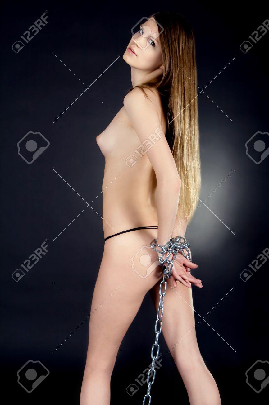 sexy flight attendant nude on flight in stockings