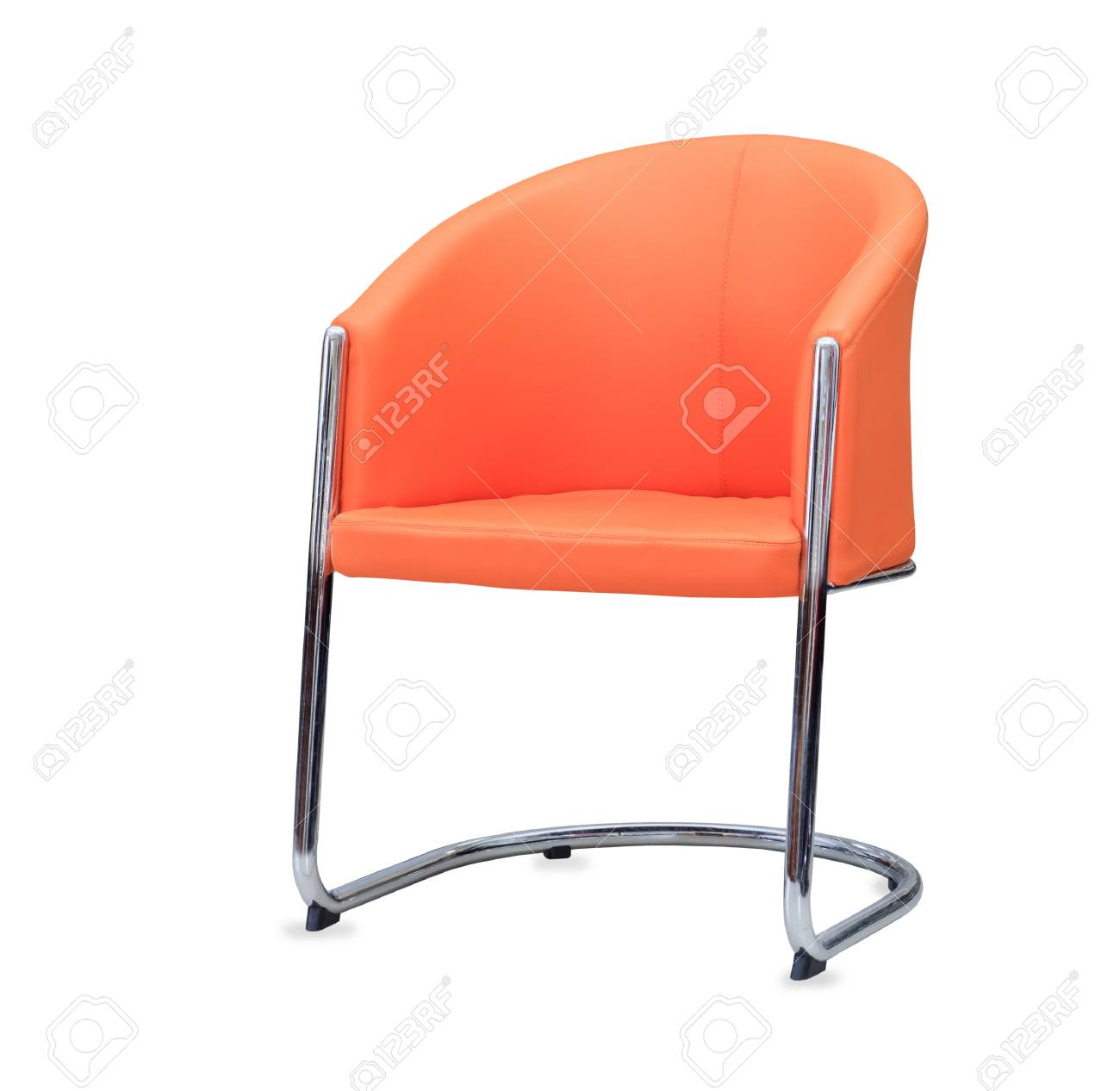 Picture of: The Office Chair From Orange Leather Isolated Stock Photo Picture And Royalty Free Image Image 31031614