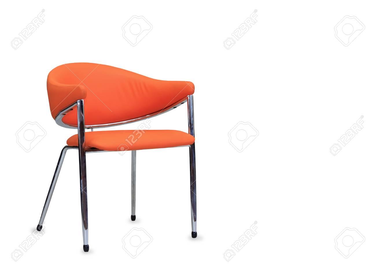 Sedie Ufficio Arancio : La sedia da ufficio in pelle arancione isolato foto royalty free
