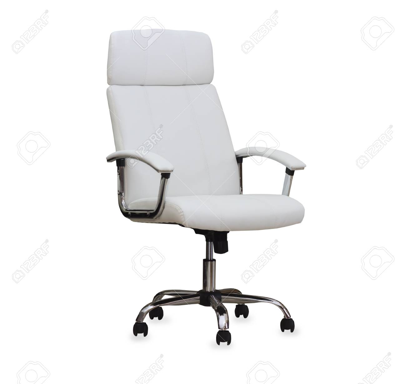 modern office chair leather. Modern Office Chair From White Leather. Isolated Stock Photo - 34089567 Leather S