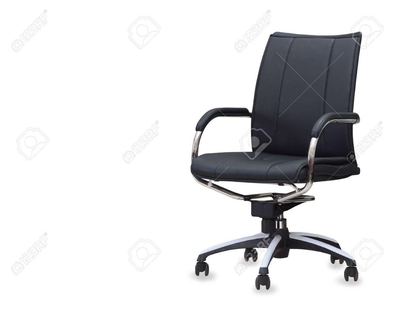Bureau Stoel Leer.De Bureaustoel Van Zwart Leer Geisoleerd