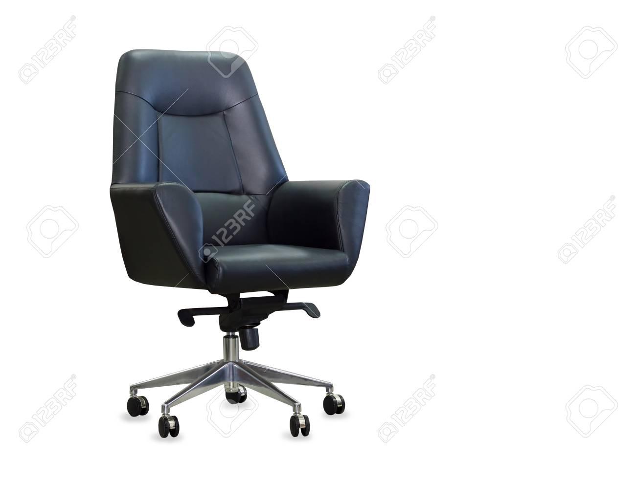 Sedie Da Ufficio In Pelle : Moderna sedia da ufficio in pelle nera isolato foto royalty free