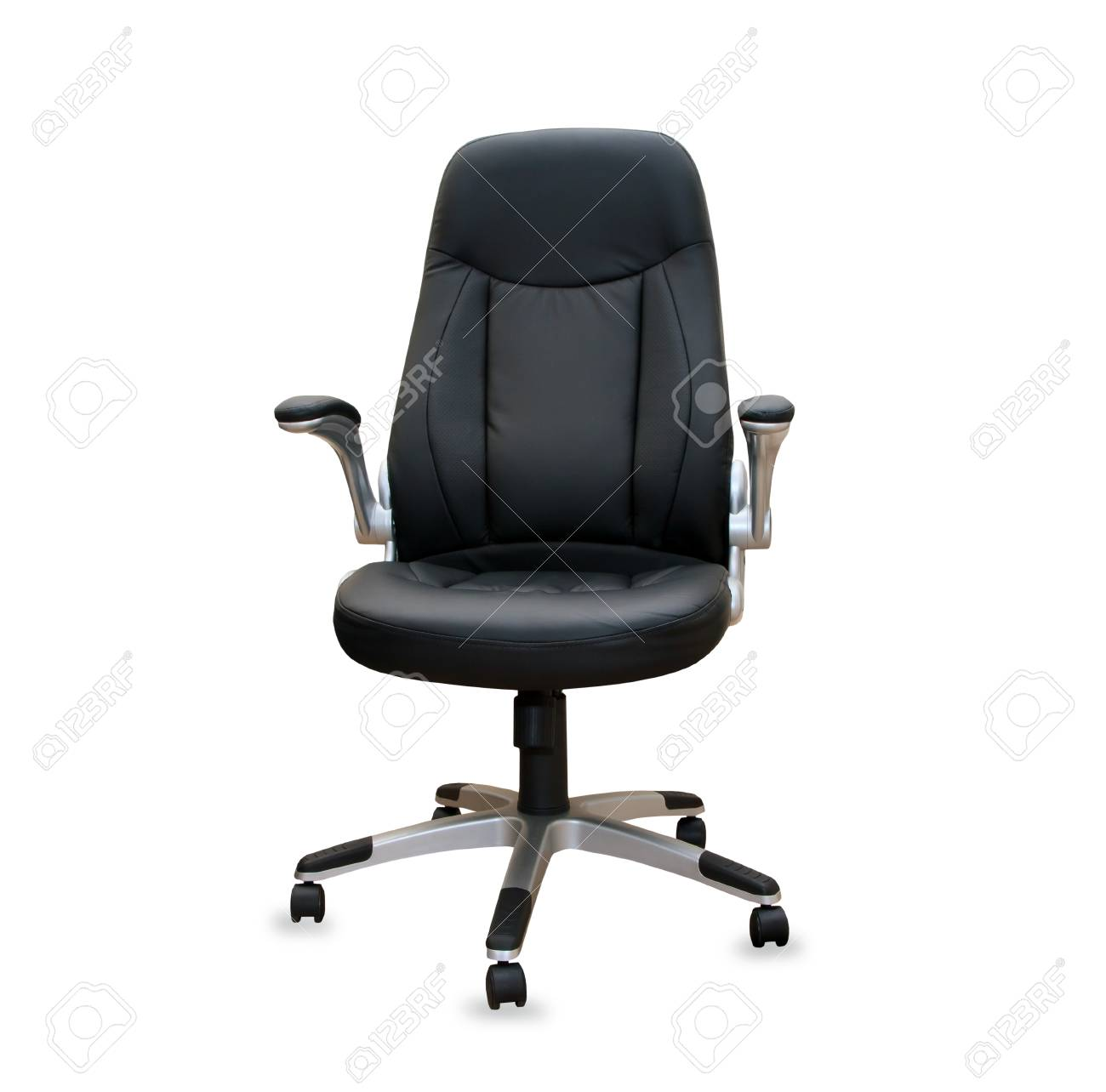 Superb Modern Office Chair From Black Leather Isolated Home Interior And Landscaping Palasignezvosmurscom