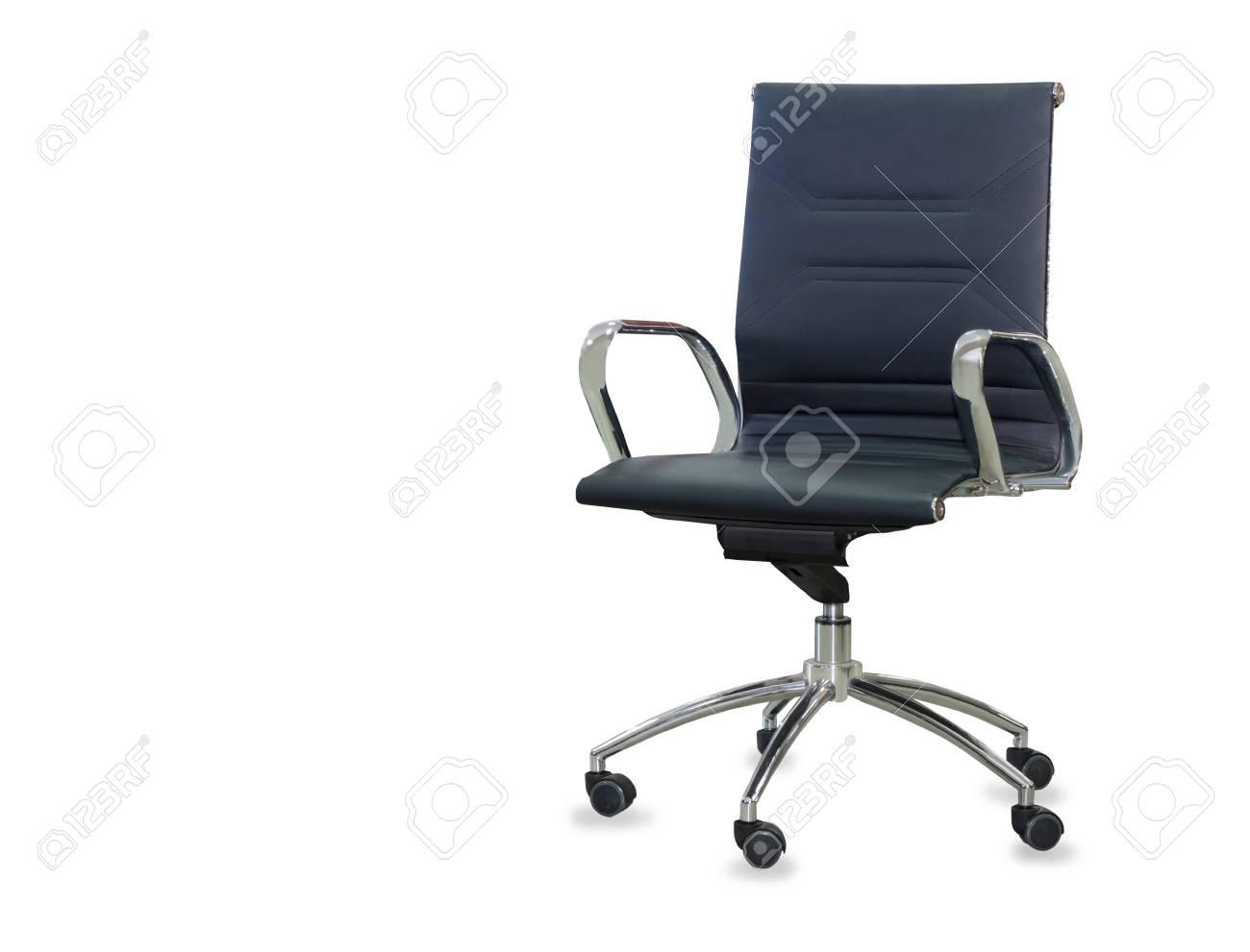 Sedie Da Ufficio In Pelle : Sedia da ufficio moderna in pelle nera. isolato foto royalty free