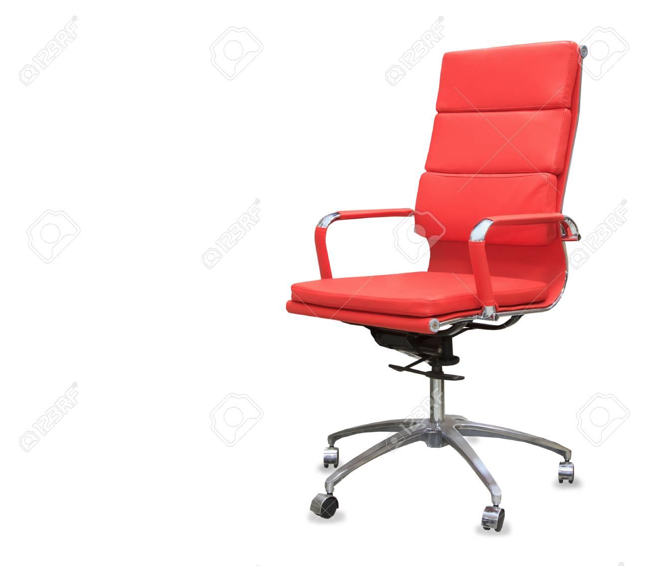 De Chaise En Cuir RougeIsolé Moderne Bureau FJc3lKT1