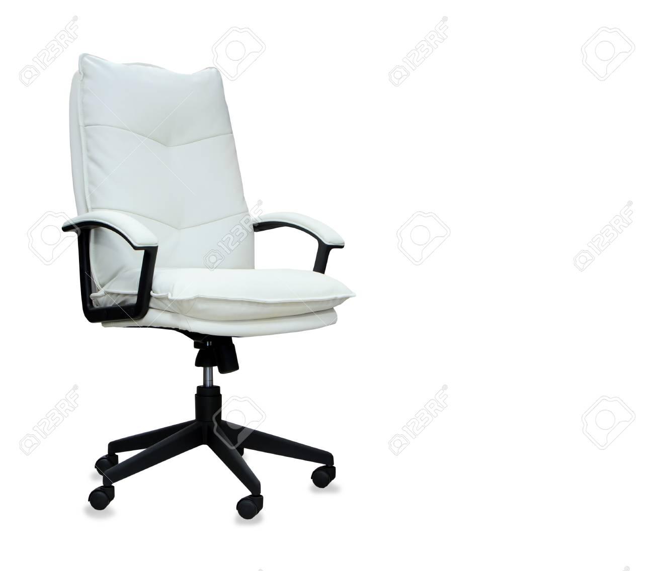 de blancIsolé en moderne cuir Chaise bureau 6bfyIvYm7g