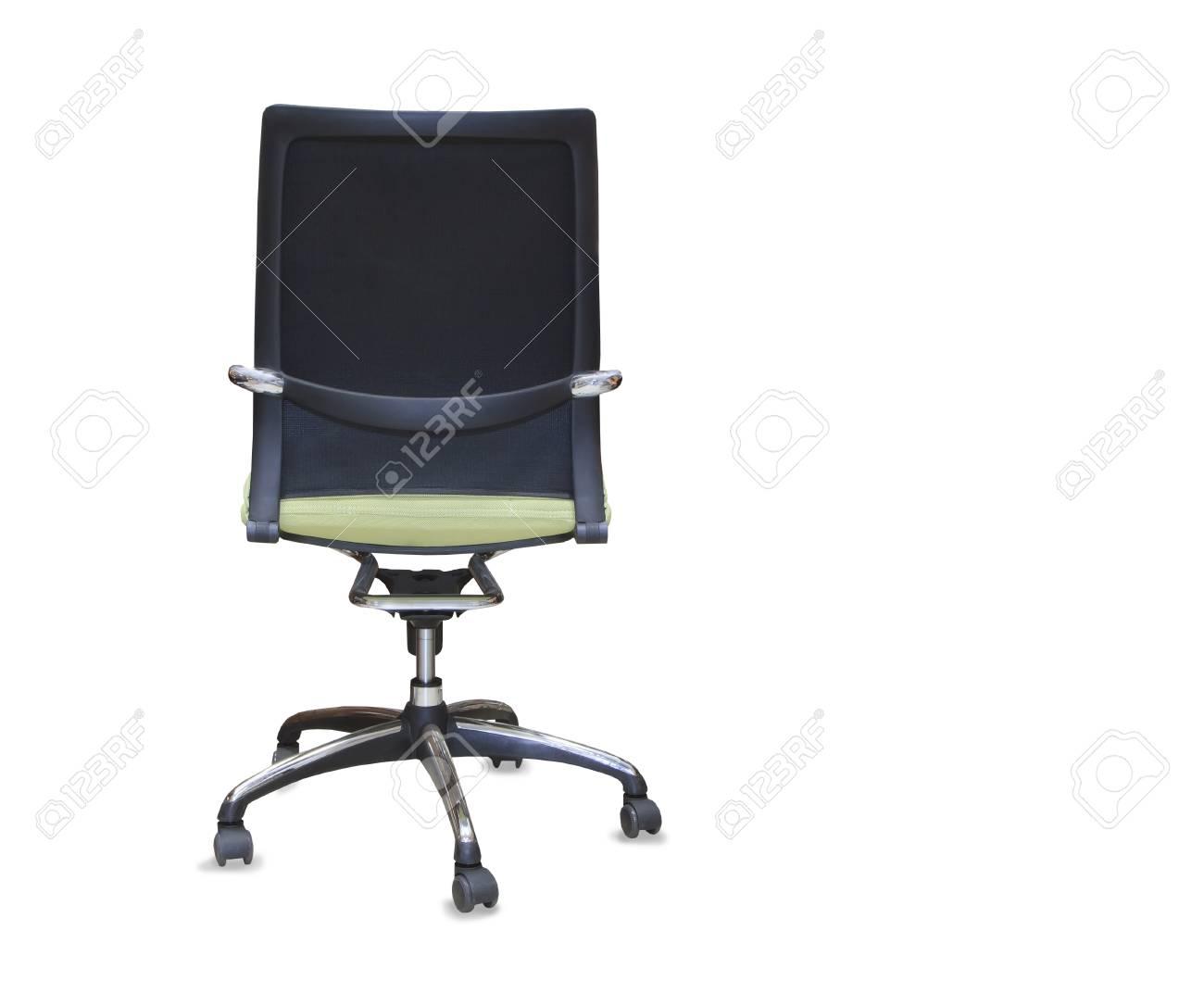 Sedie Da Ufficio Verde.Vista Posteriore Della Moderna Sedia Da Ufficio Da Panno Verde Isolato